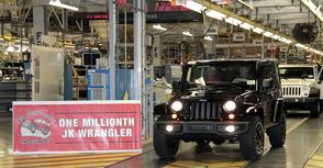 Jeep Wrangler tikt de 1 miljoen aan