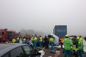 150 auto's betrokken bij ongelukken in Zeeland