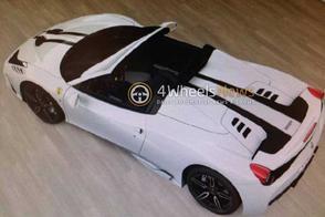 Gelekt: schaalmodel Ferrari 458 Speciale Spider