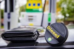 Diesel bij tankstation