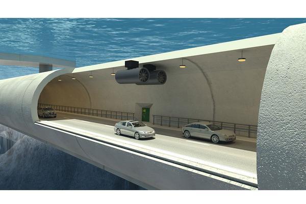 Noorwegen wil 'drijvende tunnel'
