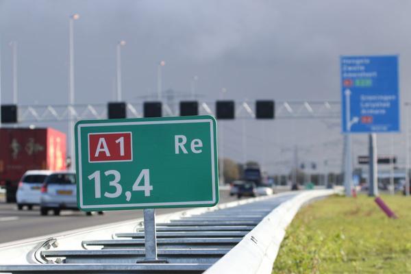 Verkeershinder verwacht op A1 en A9