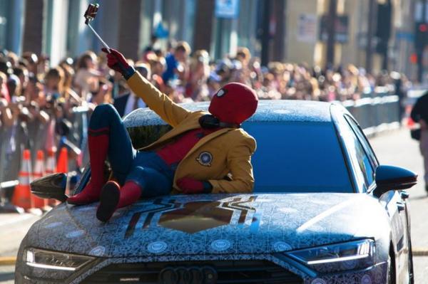 Audi legt Spider-Man op nieuwe A8