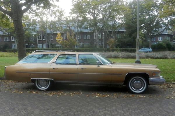 In het wild: Cadillac Fleetwood Wagon (1975)