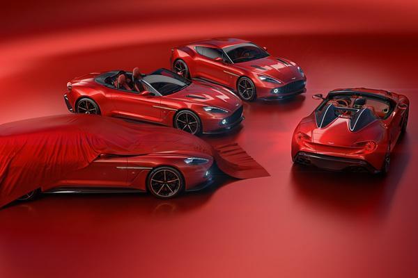 Aston Martin Vanquish Zagato-familie compleet