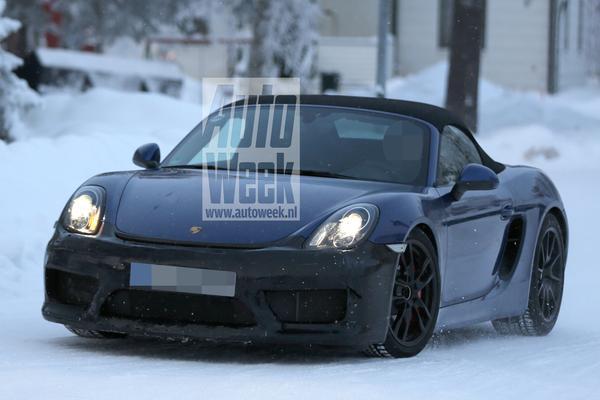 Porsche test met heftige Boxster