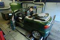 Fiat Punto op de rollenbank