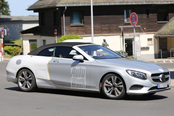 Mercedes S-klasse Cabrio bijna ongecamoufleerd