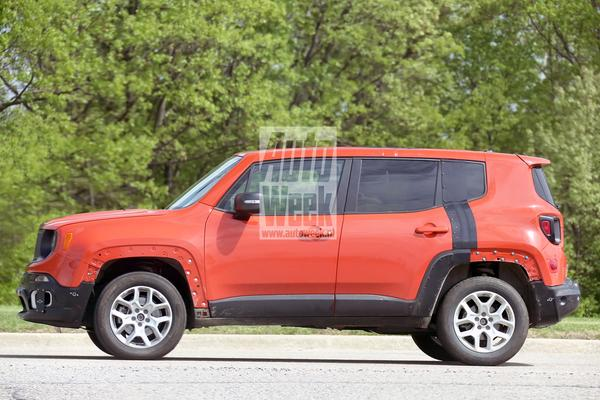 Jeep Patriot vermomd als Renegade