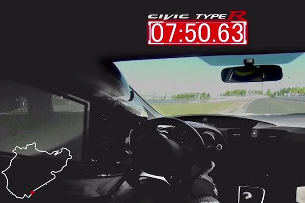 Honda Civic Type-R sloopt Ringrecord Mégane