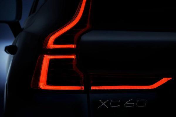 Volvo laat achterlicht XC60 zien