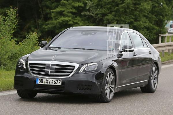 Gefacelifte Mercedes S-klasse gesnapt