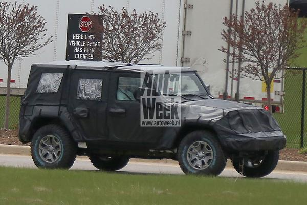 Gesnapt: nieuwe Jeep Wrangler