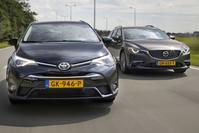 Dubbeltest - Mazda 6 vs. Toyota Avensis