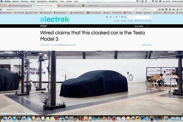 Details Tesla Model 3 gelekt