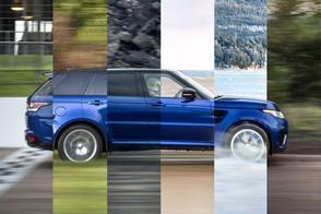 Range Rover Sport SVR sprint zich suf