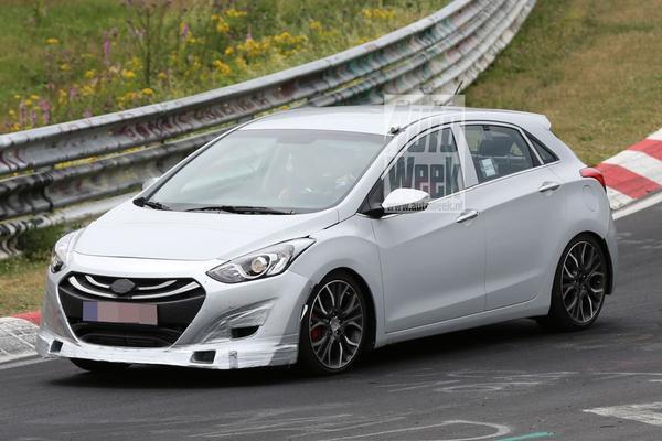 Hyundai laat afgetrainde i30 uit op de 'Ring