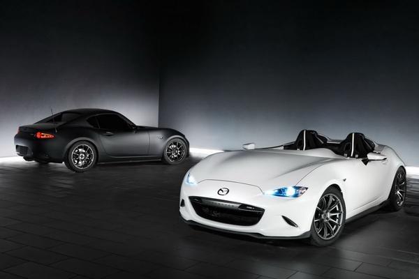 Mazda toont RF Kuro en Speedster Evo in Vegas