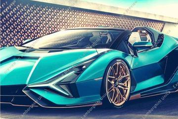 Lamborghini Sián Roadster te vroeg in beeld