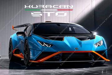 Lamborghini Huracán STO gelekt