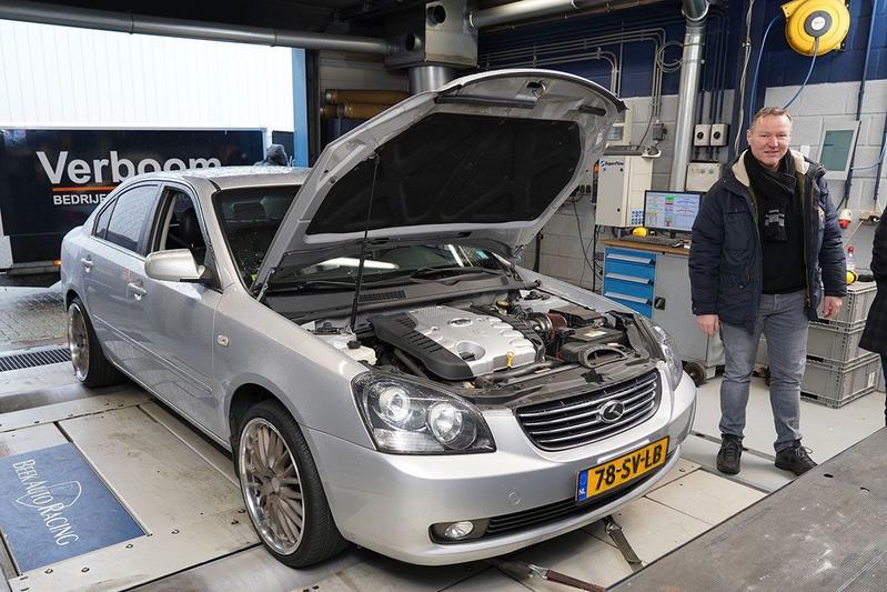 Kia Magentis 2.7 V6 - Op de Rollenbank