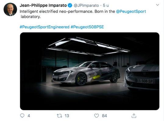 Peugeot 508 Engineered plug-inhybride