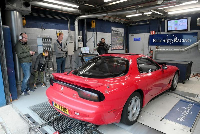 Mazda RX-7 - Op de Rollenbank
