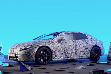 Elektrische Mercedes-Benz EQS vanbinnen
