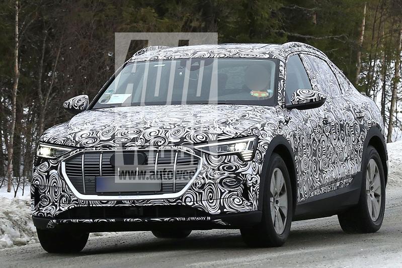 Audi E-tron Sportback spyshots