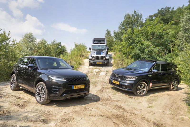 4x4 met een elektrische duw - Kia Sorento PHEV - Range Rover Evoque P300e - Jeep Wrangler 4xe - Reportage