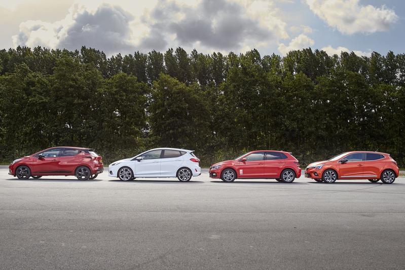 B-segment Polo Clio Fiesta Micra lease verkoop