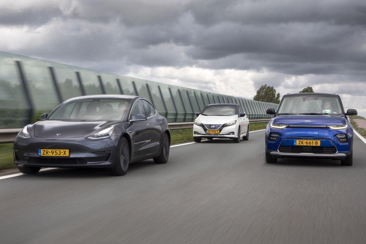 EV's elektrisch rijden bijtelling Nederland Tesla Kia Nissan