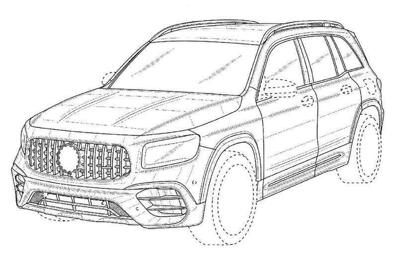 Mercedes-AMG GLB 45 patenttekeningen