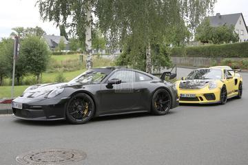 Porsche 911 GT3 op pad met voorganger