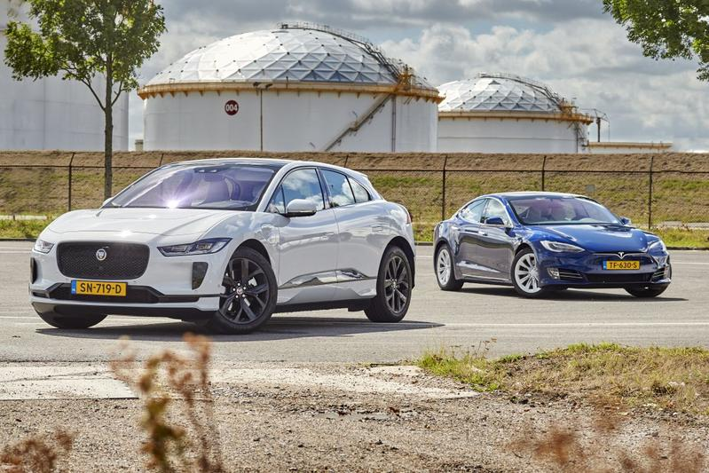 Elektrische auto, EV, stekker, Tesla, Model S