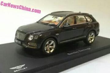Bentley Bentayga gelekt als schaalmodel