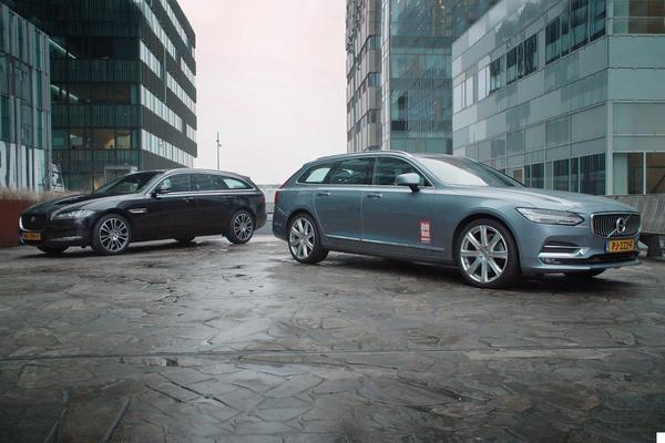 Video: Jaguar XF Sportbrake vs. Volvo V90 – Dubbeltest