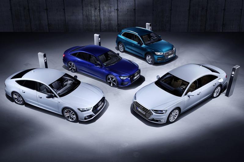 Audi plug-in hybride PHEV stekker lader laadpaal