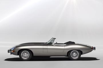 Elektrische Jaguar E-Type in de kiem gesmoord