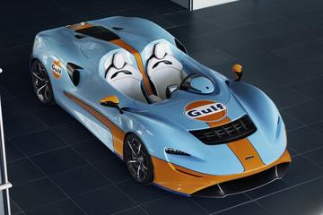 McLaren Elva in Gulf-jas