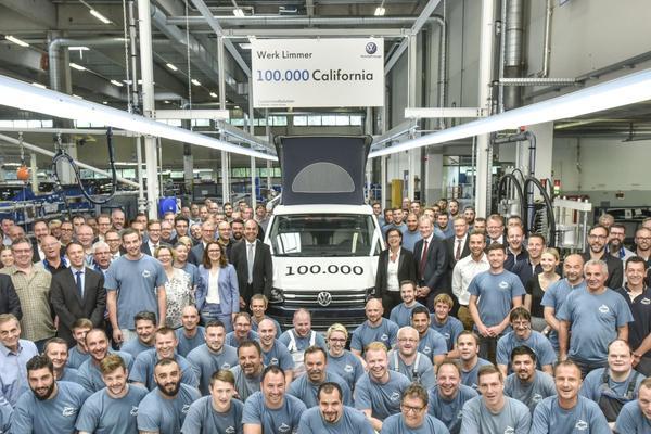 100.000ste Volkswagen California uit Hannover