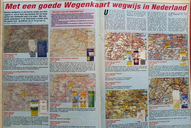 AutoWeek 1991 kaarten