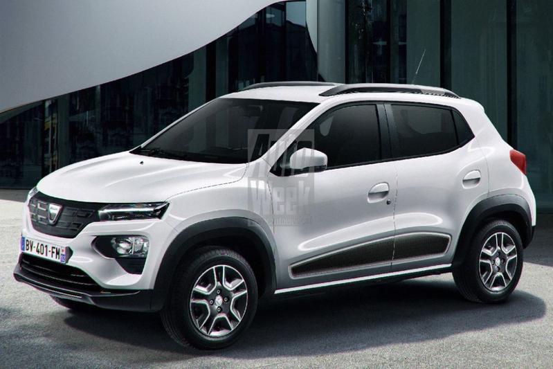 Dacia Spring toekomstbeeld schets render