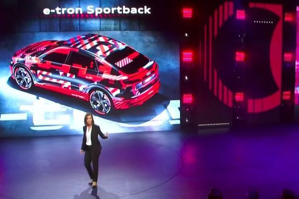 Audi neemt de E-tron Sportback mee naar LA Auto Show