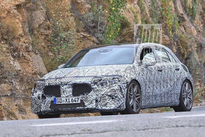 Gesnapt: nieuwe Mercedes-AMG A 45