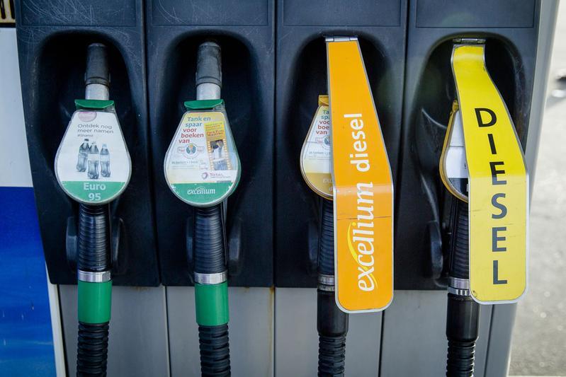 Brandstof benzinepomp (foto ANP)