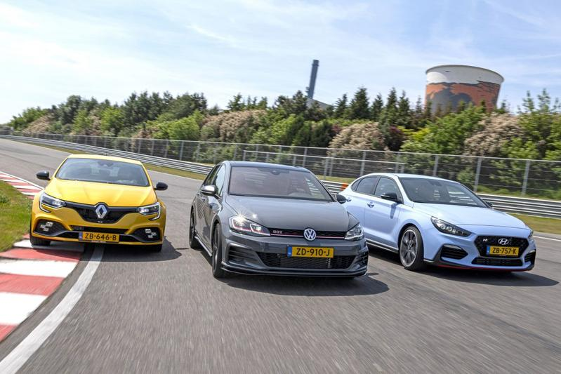 Hyundai i30 Fastback N - Renault Mégane RS Trophy - Volkswagen Golf GTI TCR - Triotest