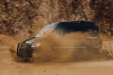 Vertimmerde Volkswagen Crafter van Torsus op komst