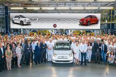 Twee miljoenste Poolse Fiat 500 gebouwd