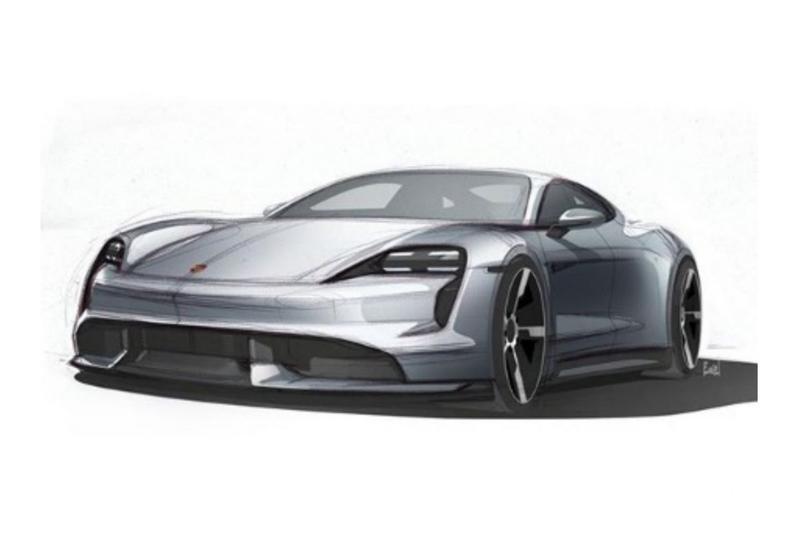 Porsche Taycan schets